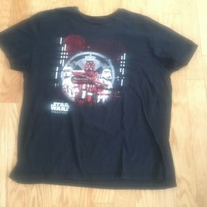 Star Wars Rogue One Black Graphic T Shirt Size 2XL